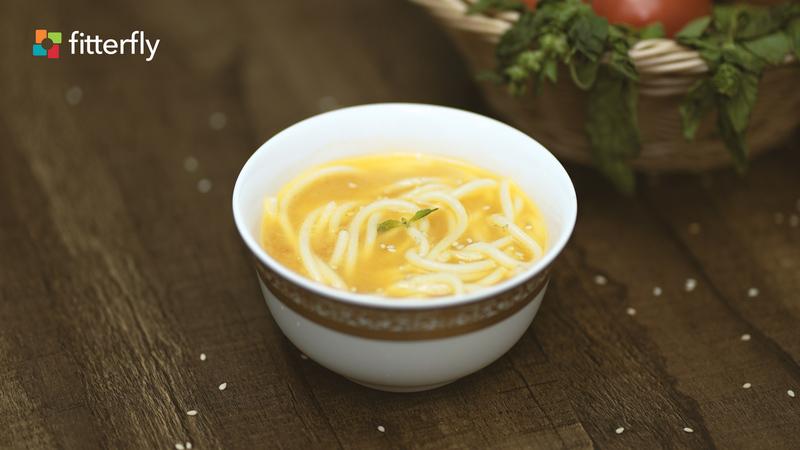 Zucchini Spaghetti Tomato Thick Soup