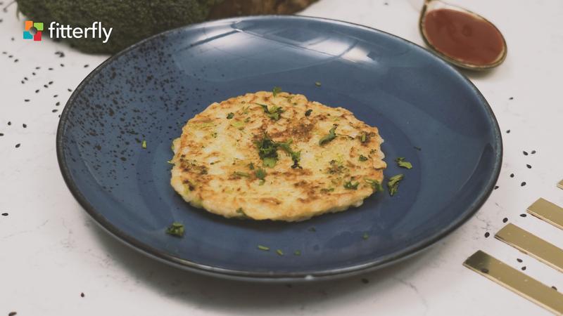 Broccoli Rice Coconut Milk Pancake
