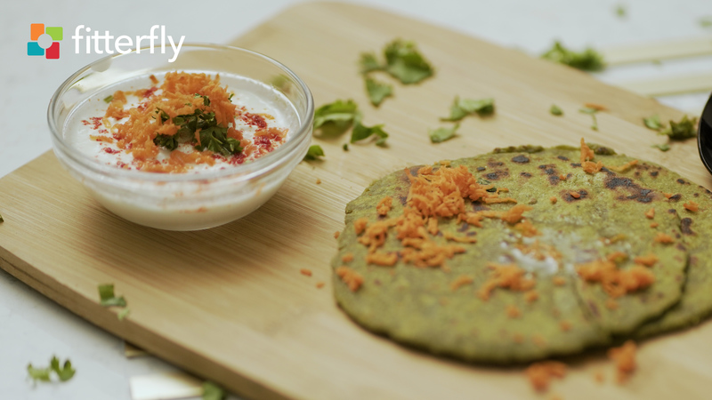 Spinach Paratha With Ghee