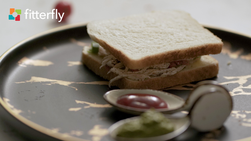 White Bread Chicken Sandwich Homemade