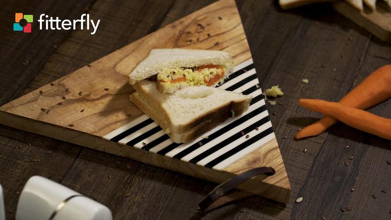 Carrot Flax Seed Cheese Sandwich