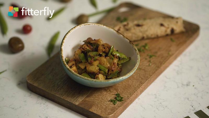 Gavar Potato Dry Vegetable With Oil