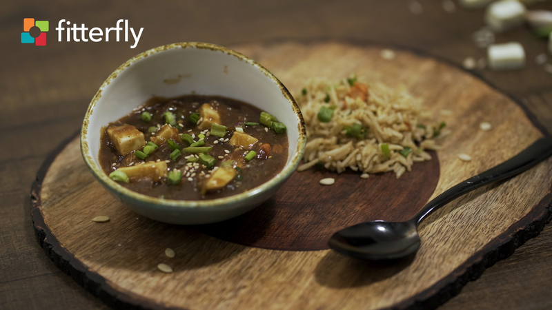 Paneer Manchurian Gravy with Veg Fried Rice