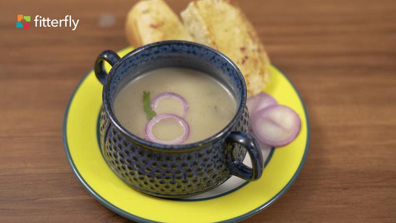 Roasted Garlic Potato Thick Soup