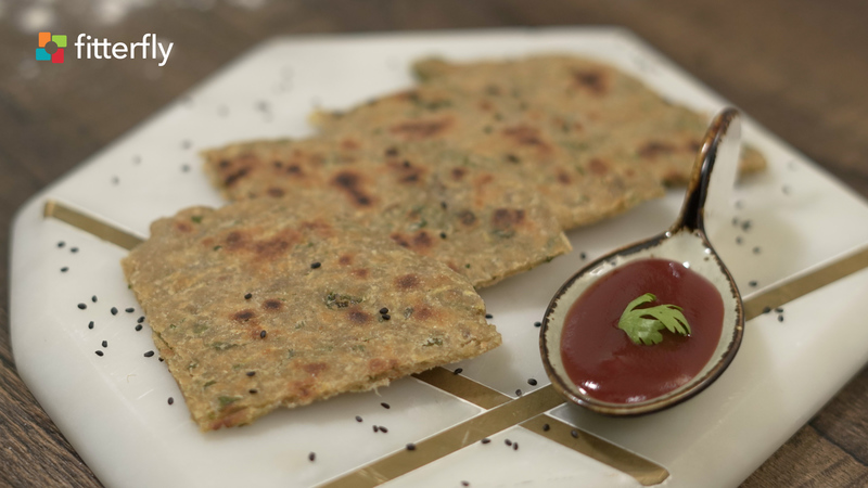 Dudhi Paratha With Ghee