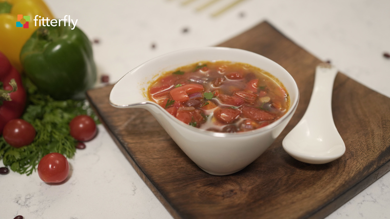 Mexican Vegetable Clear Soup With Oil