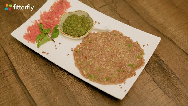 Vegetables Mixed Flour Cheela With Mint Chutney