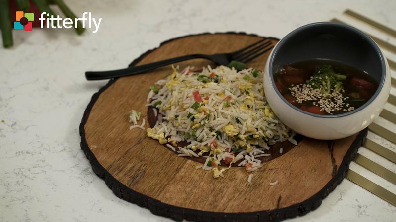 Egg Fried Rice With Vegetable Gravy