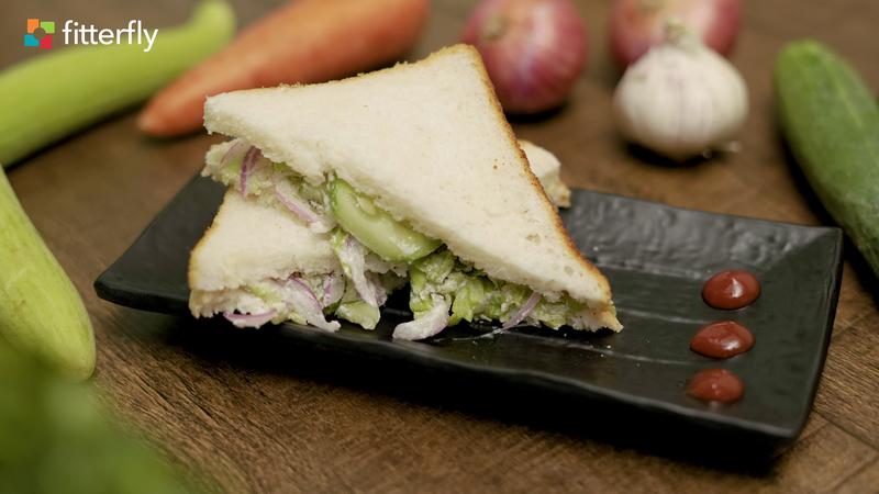 Creamy Cucumber Lettuce Sandwich