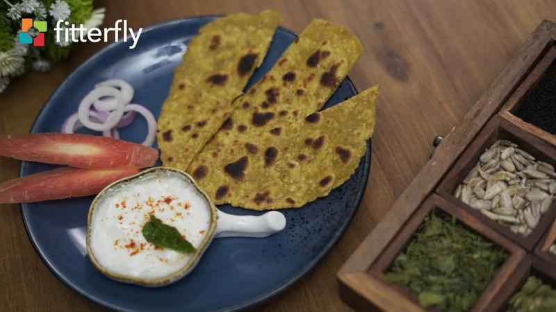 Sesame Pumpkin Millet Paratha With Ghee