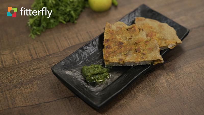 Glutenfree Chicken Kheema Paratha With Coriander Chutney