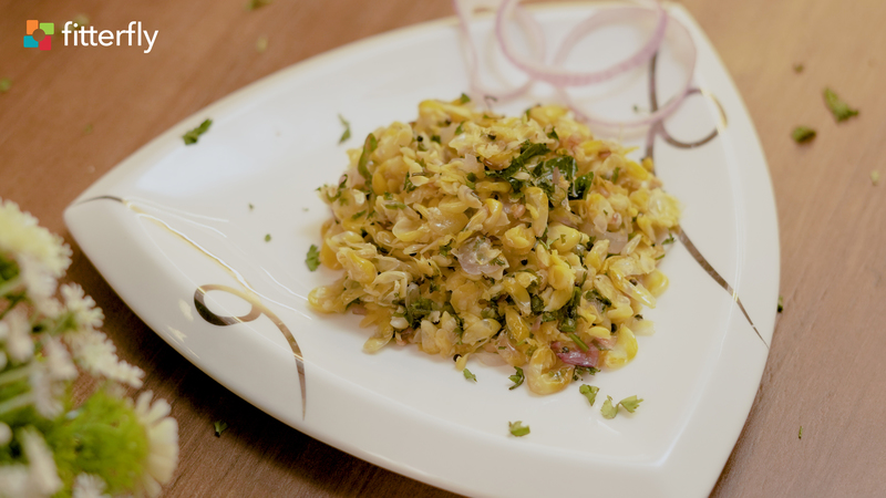 Baked Corn Upma With Oil