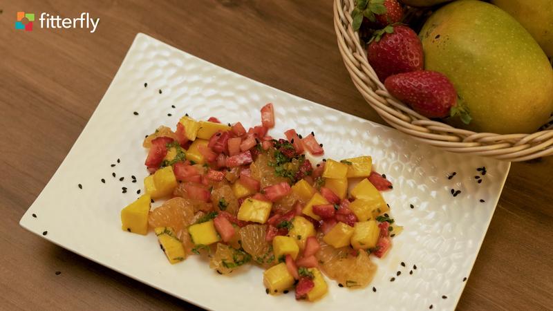 Mango Orange Strawberry Salad With Honey