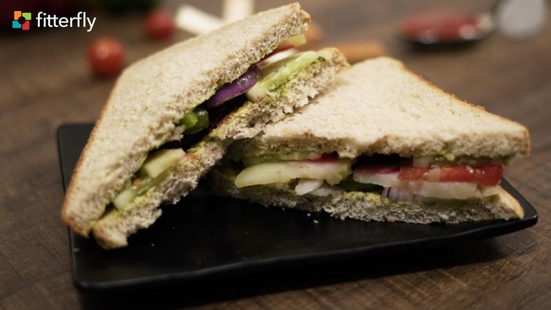 Whole Wheat Bread Vegetable Sandwich