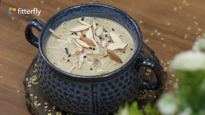 Broken Wheat Soya Milk Porridge