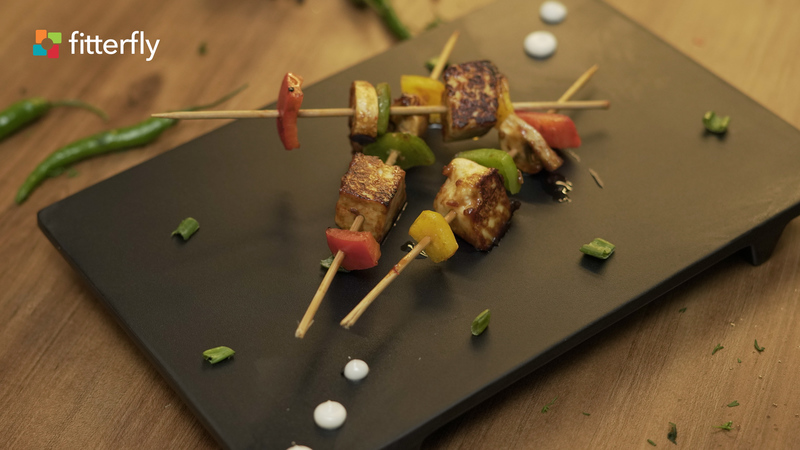 Paneer Mushroom And Capsicum Satay