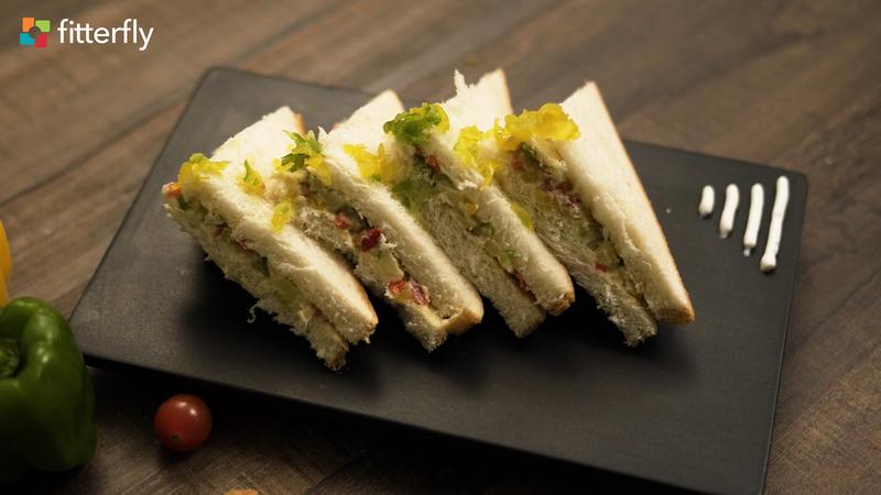 White Bread Mayo Aloo Sandwich