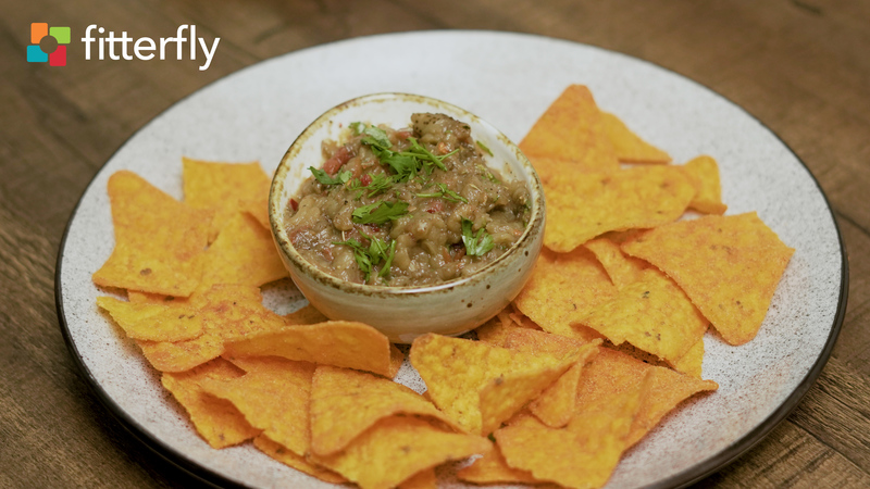 Roasted Egg plant Mexican Dip