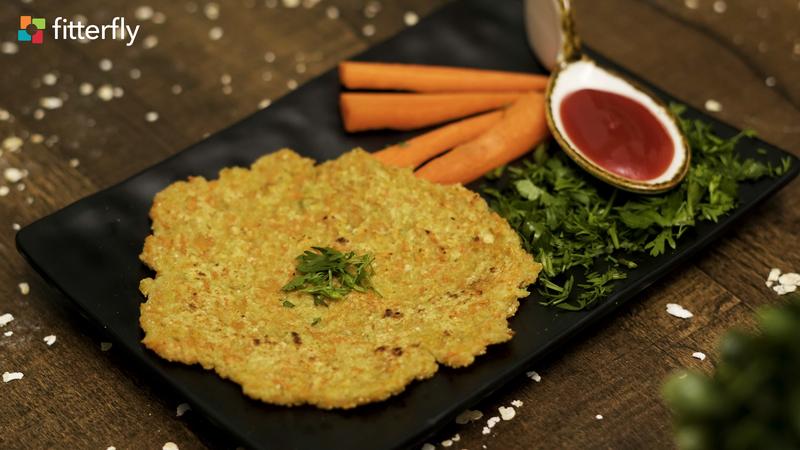 Oats Carrot Cheela