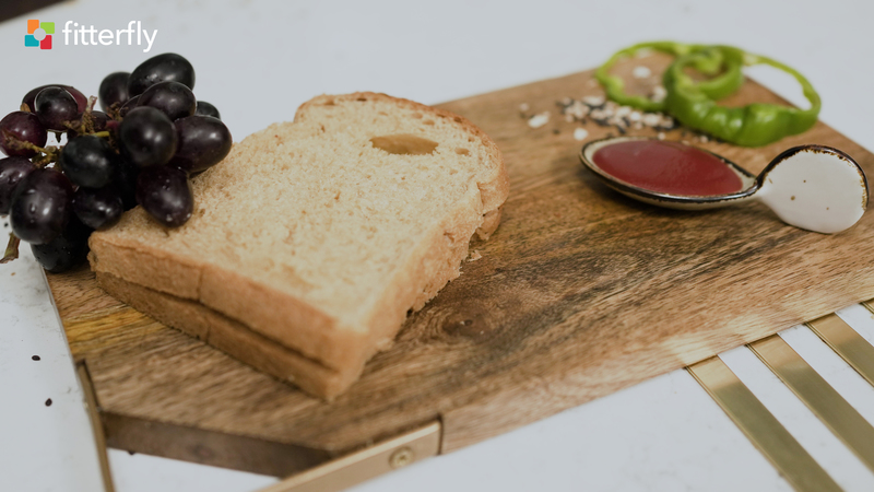 Brown Wheat Bread Cucumber Sandwich