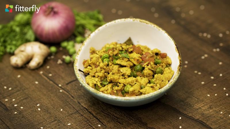 Chicken Fresh Peas Kheema Dry