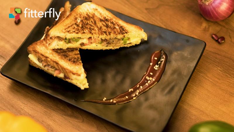 Rajma And Cheese Sandwich
