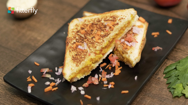 White Bread Besan Toast Sandwich
