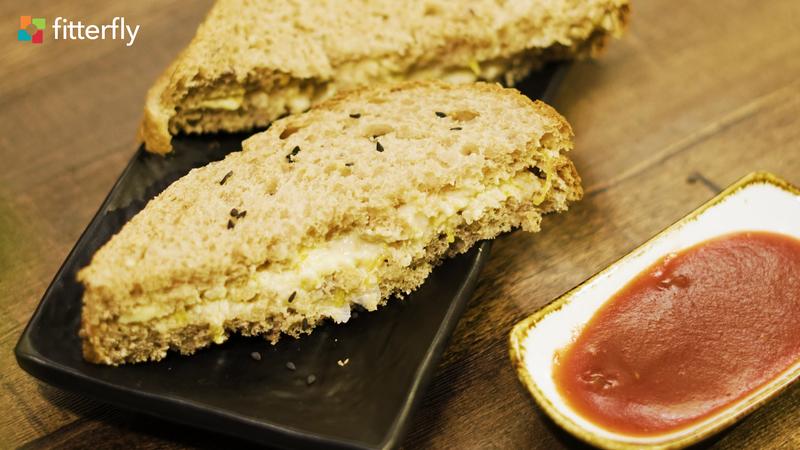 Brown Wheat Bread Pumpkin Hummus Sandwich
