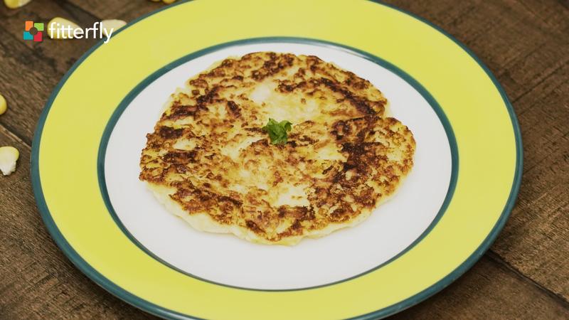 Corn Rice Pancake
