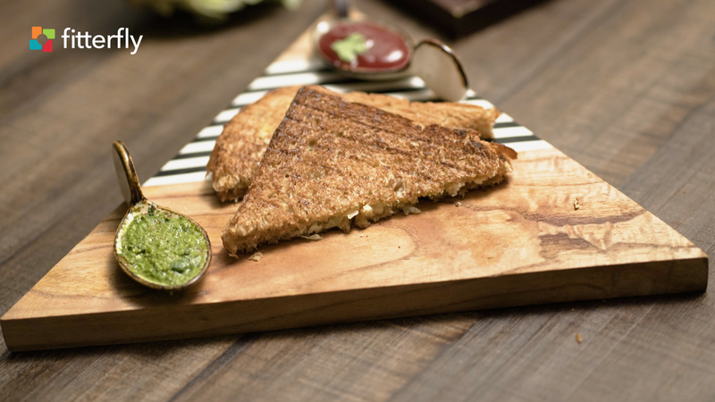 Cabbage Paneer Brown Wheat Bread Grilled Sandwich