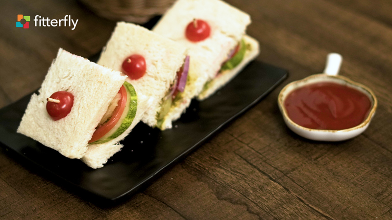Vegetable Sandwich With Ketchup