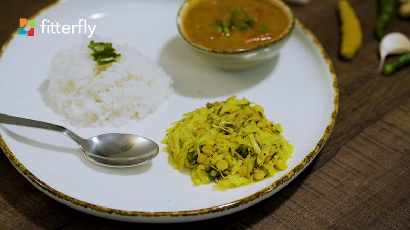 Cabbage Chana Dal Dry Vegetable
