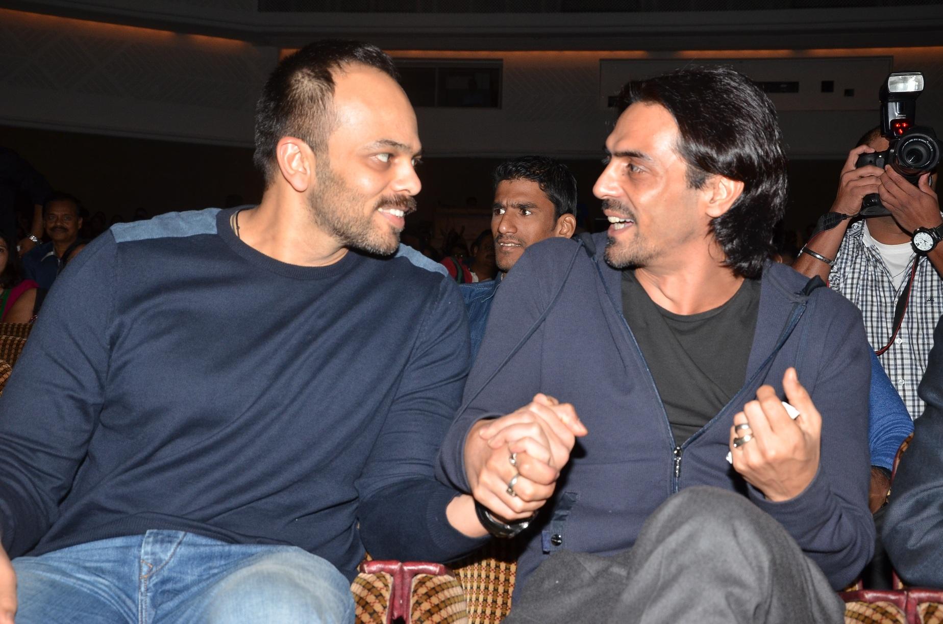 Rohit Shetty and Arjun Rampal