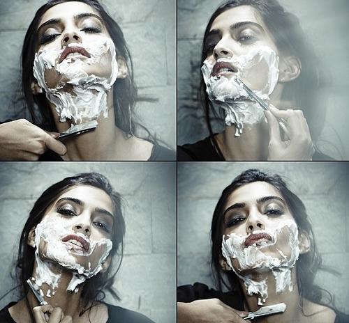 Sonam Kapoor Shaves