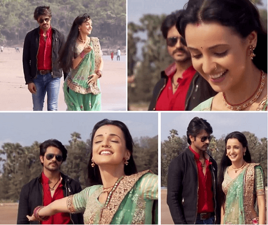 Colours site : epic romantic moments between rudra and paro.