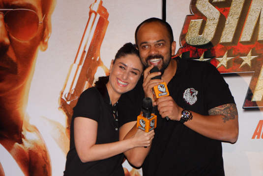 Kareena Kapoor and Rohit Shetty Having Fun (Image Courtesy : Sumedh Sawant)