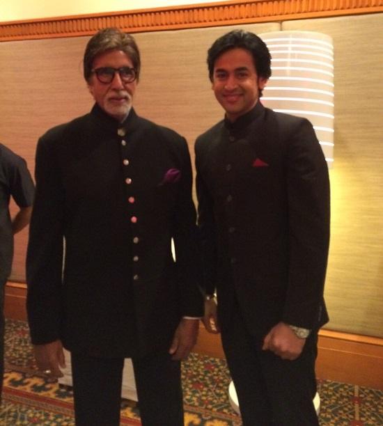 Shashank Vyas With Amitabh Bachchan