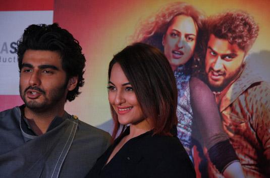 Arjun and Sonakshi promote film Tevar (Image Courtesy: Anushree Fadnavis / Indus Images)