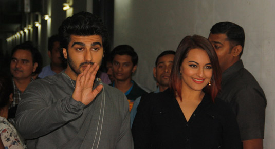 Arjun and Sonakshi promote film Tevar (Image Courtesy: Anushree Fadnavis / Indus Images)