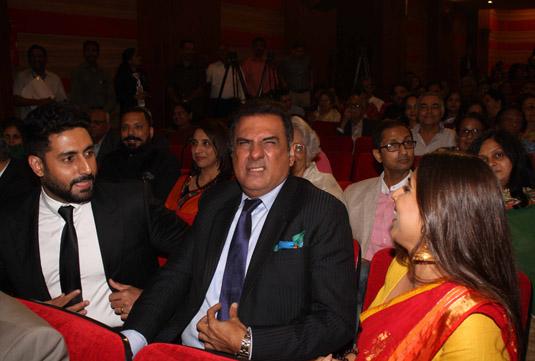 Abhishek Bachchan, Boman Irani and Vidya Balan (Image Courtesy : Biplov Bhuyan - Indus Images)