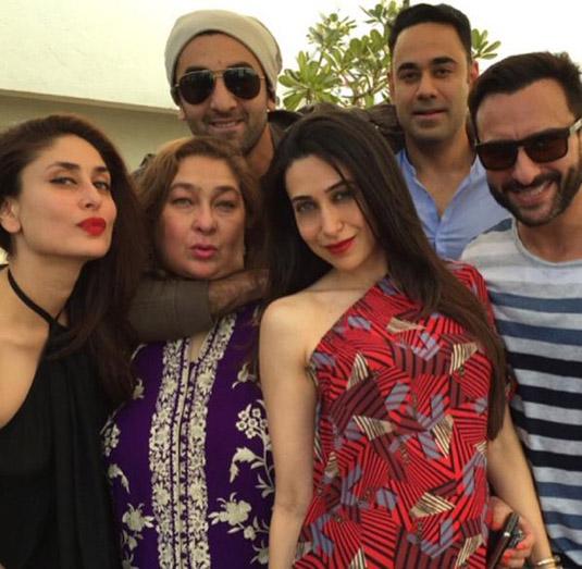 Ranbir Kapoor, Karishma Kapoor, Kareena Kapoor Khan, Saif Ali Khan, Rima Jain, Bharat Sahni