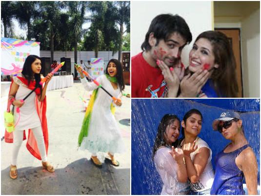 TV Actors Holi