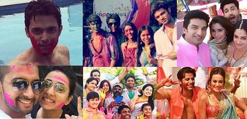 TV Actors Celebrating Holi