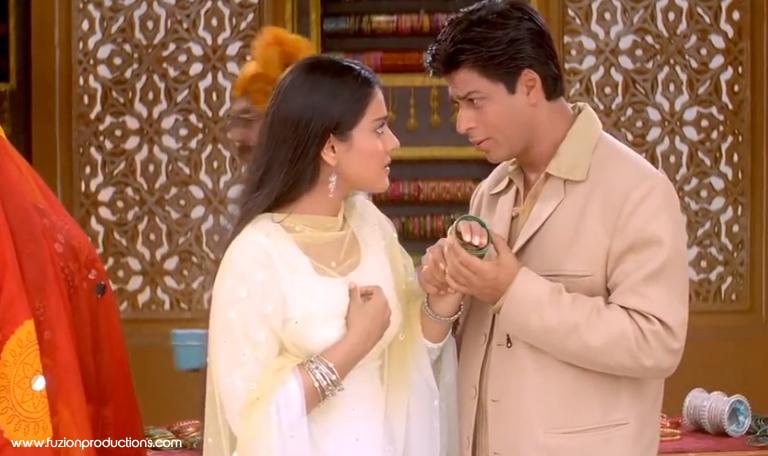 Shah Rukh Khan and Kajol in Kabhi Khushi Kabhie Gham