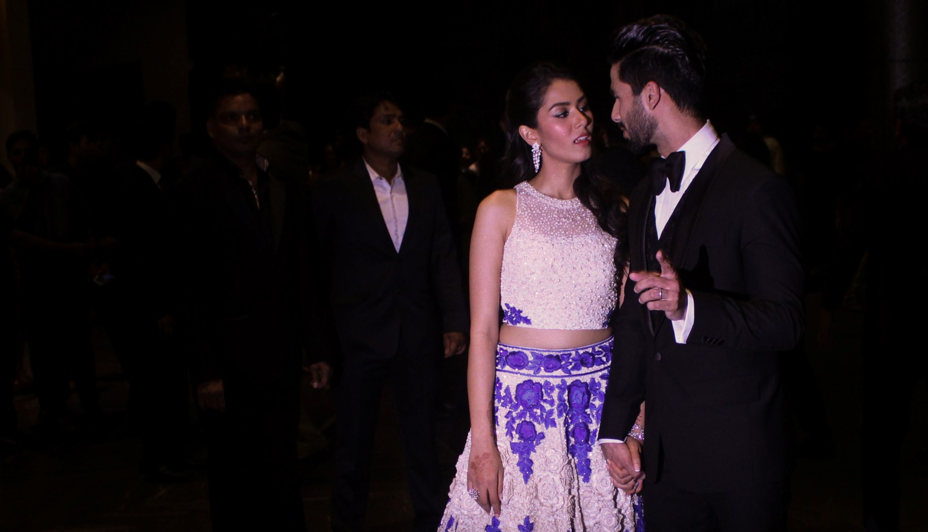 Shahid Kapoor With Wife Mira Rajput At Their Wedding Reception
