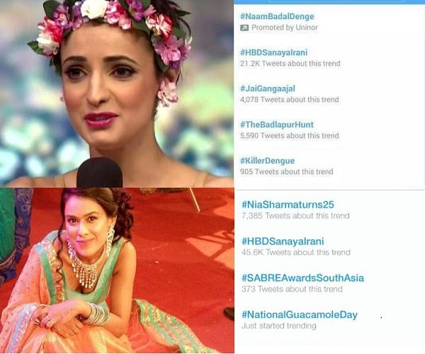 Sanaya Irani And Nia Sharma's Birthday Trend On Twitter