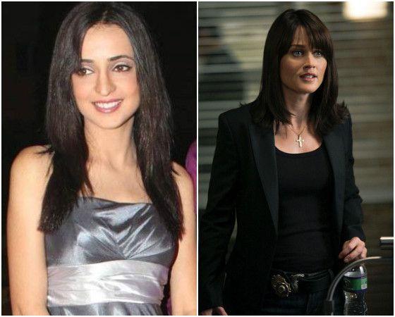Sanaya Irani And Robin Tunney As Senior Special Agent Teresa Lisbon On The Mentalist