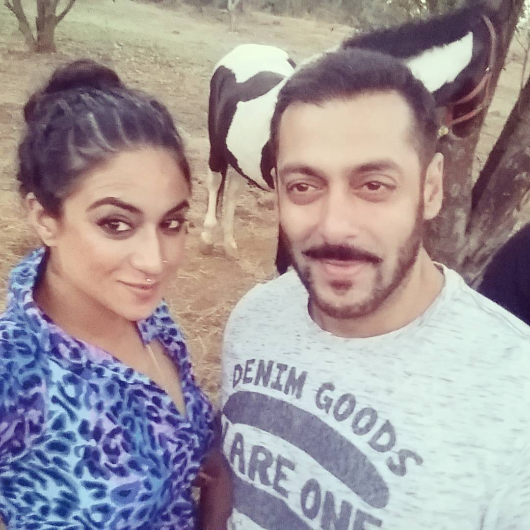Priya Malik and Salman Khan