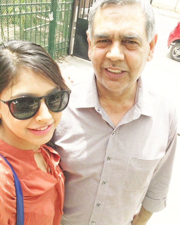 Niti Taylor With Her Father