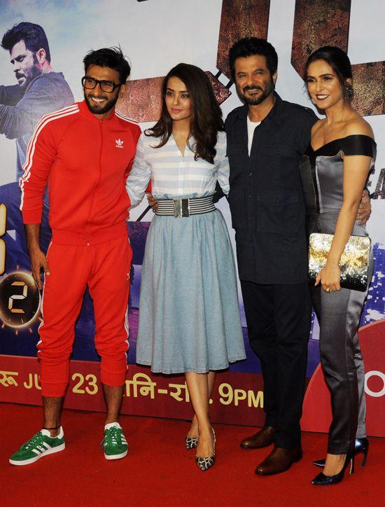 Ranveer Singh, Surveen Chawla, Anil Kapoor and Madhurima Tuli (Image Courtesy: Ashish Vaishnav / Indus Images)